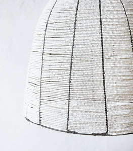 African Beaded Lampshade / Large