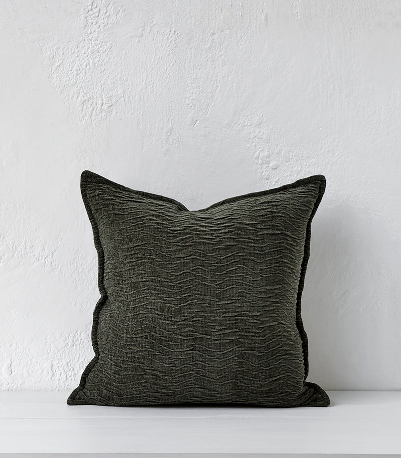 Alexis Cushion w Feather Inner / 50x50cm / Ivy