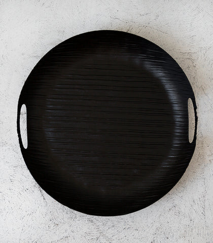 Aluminium Linear Round Tray / Black