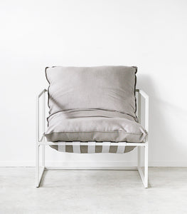 'Aruba' Outdoor Occasional Chair / White-Putty