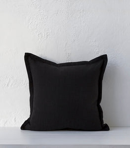 Austin Cushion / Ebony / 50x50cm / Feather Inner