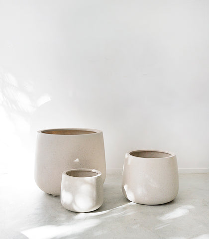 Belle Planter / Squat / Ivory / Small