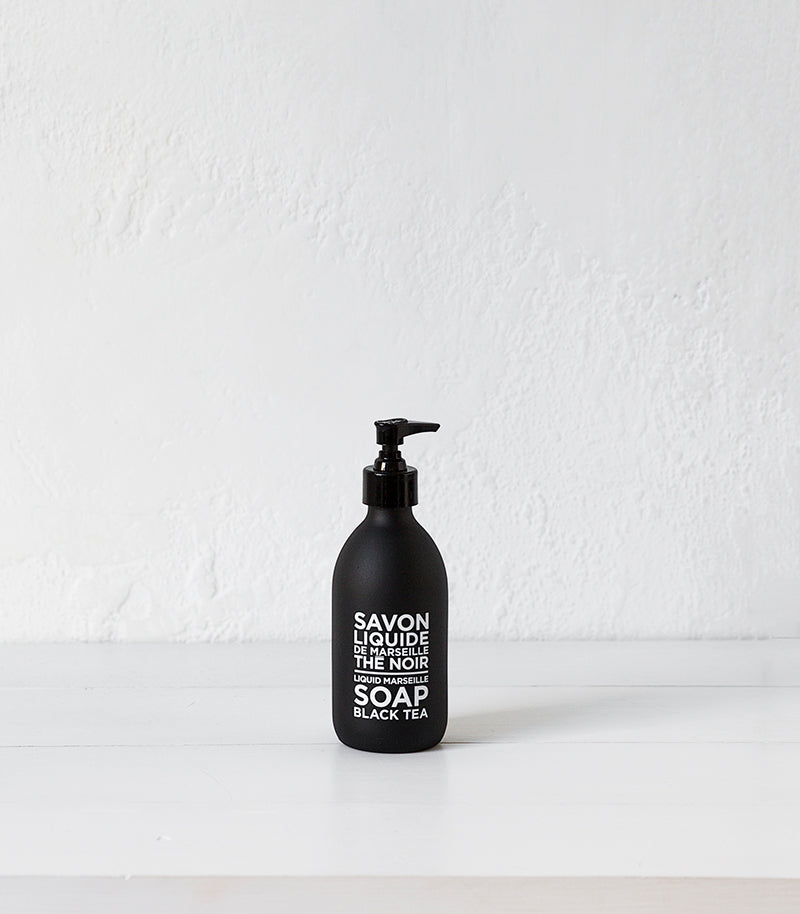 Black & White Liquid Marseille Soap / 300ml / Black Tea