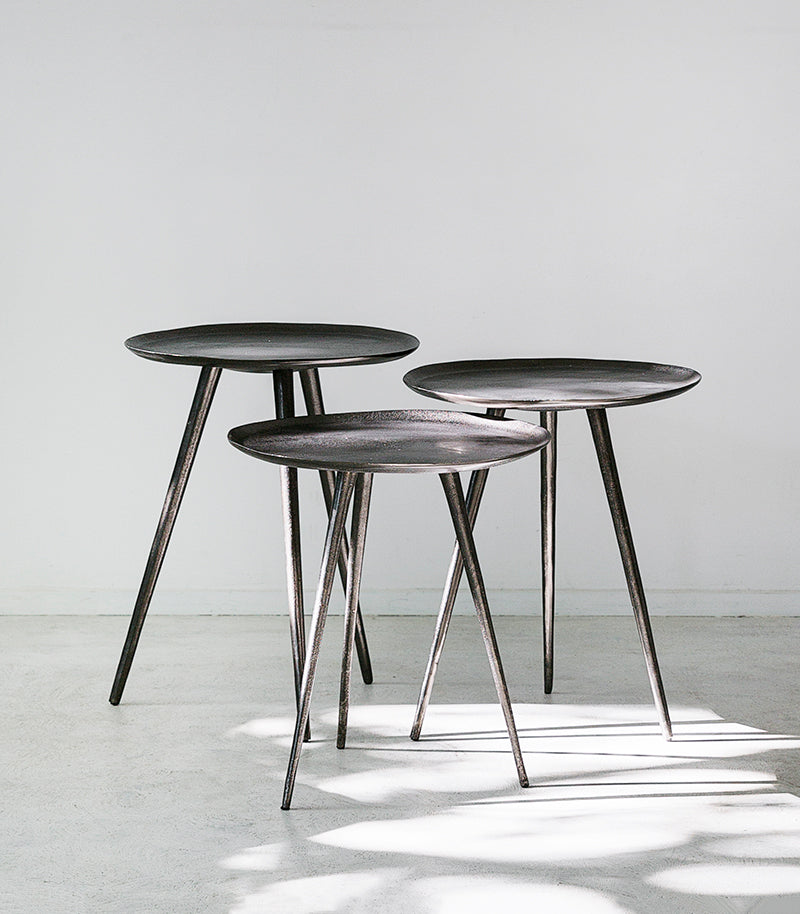 Brooklyn Graphite Side Tables Set Of 3 Indie Home Collective
