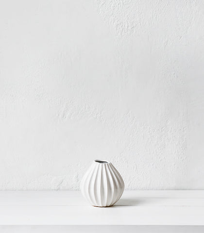 Broste Vase / Lines Wide / Small