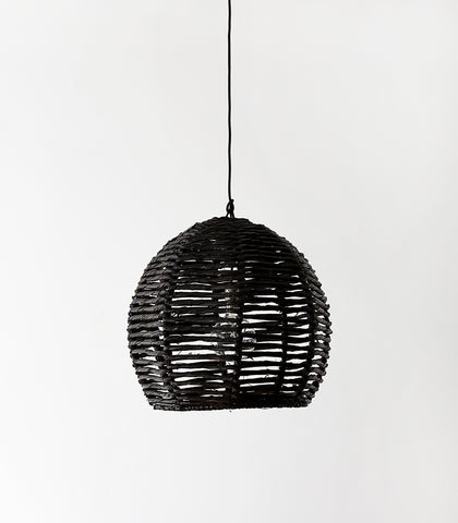 'Cabo' Lampshade / Black / 50cmD