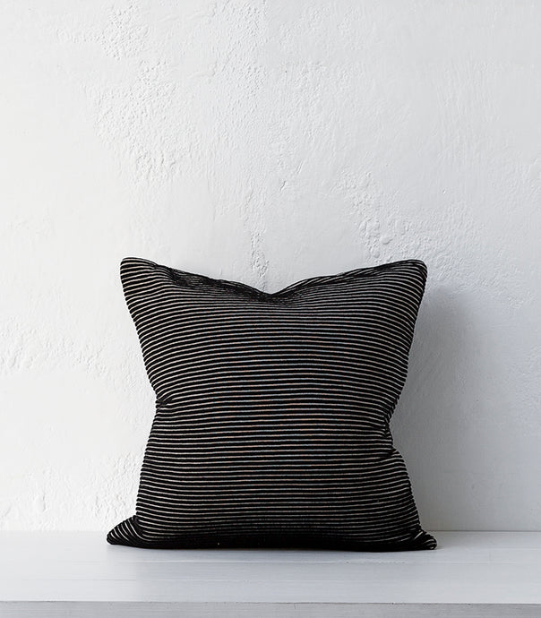 Carlos Cushion / Tar / 50x50cm / Feather Inner