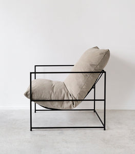 'Cloud' Lounger / Feather Filled / Washed Sand