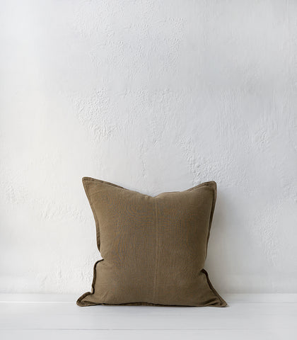 Como Cushion w Feather Inner / 50x50cm / Clay