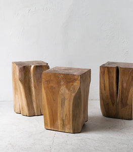 Crusoe Teak Root Square Side Table 45cm