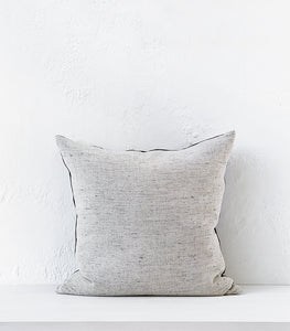 """Desert Sand' Linen Cushion w Feather Inner / 55x55cm"