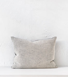 "'Desert Sand"" Linen Cushion w Feather Inner / 60x40cm"
