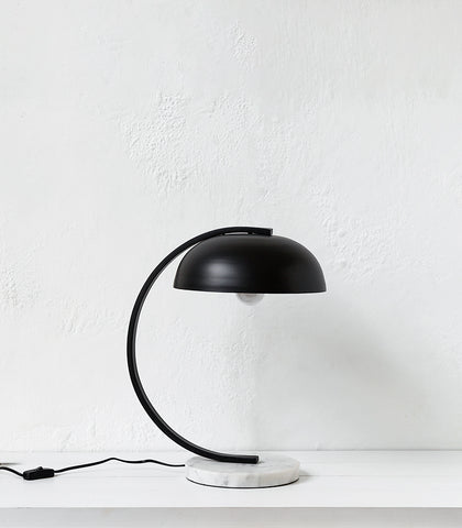 Dome Table Lamp / Black