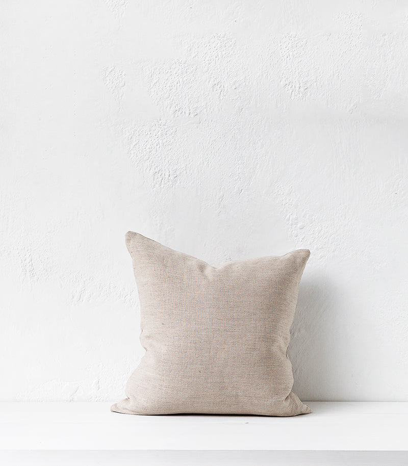 Duo Scatter Cushion w Feather Inner / Salt & Pepper / 50x50cm