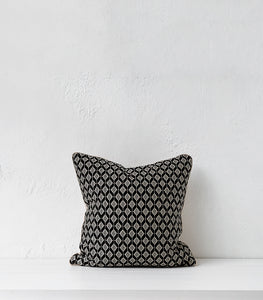 Embla Cushion w Feather Inner / 50 x 50cm / Onyx