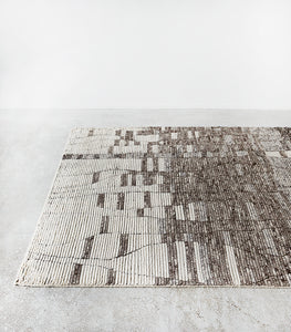 Esha Wool Floor Rug / Natural-Grey / 160x230cm