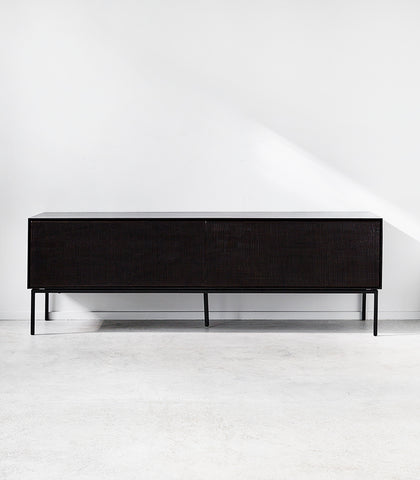 Ethnicraft / Teak 'Grooves' Entertainment Console / 162Wx45Dx53H