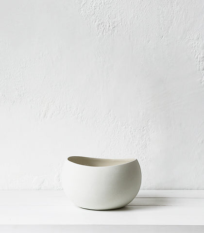 Gastonia Ceramic Bowl / White