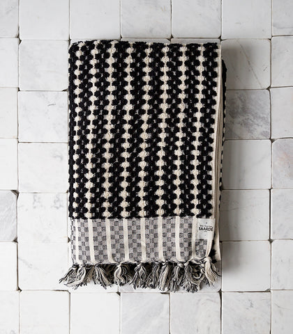 Havva Dotted Towel / Black