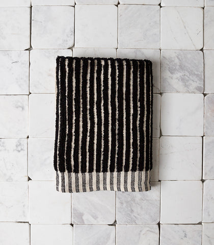 Havva Stripe Bathmat / Black