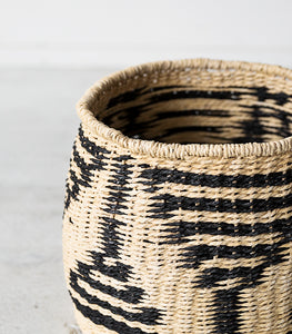 Hubsch Interior / Woven Rope Basket / Blk-Natural / Small