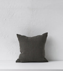 Indie Linen Slate Cushion w Feather Inner / 45x45cm