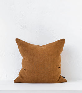 Indira Cushion w Feather Inner / Tobacco / 55x55cm