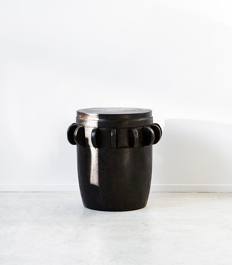 Indonesian Sugar Grinder Table/Stool / Black
