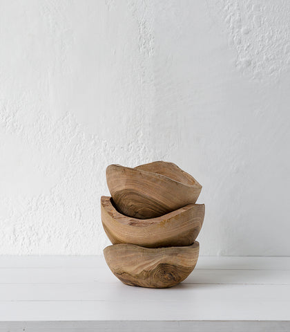 Indonesian wooden Seed Shaped Bowl