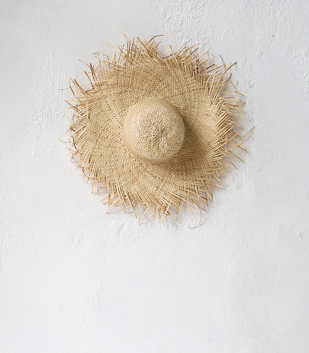 Island Palm Fringe Hat / Natural