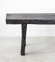 Javanese Shell Inlay Bench / 50cm Lx 40W / Black