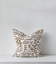 "'La Luz"" Brass Detail Cushion w feather Inner / 55x55cm"