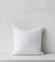'La Luz' White Detail Cushion w feather Inner / 55x55cm