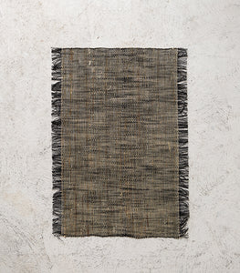 Linea Linen Placemat / Black Natural
