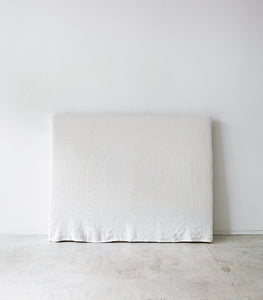Linen Slipcover Headboard / Queen / White