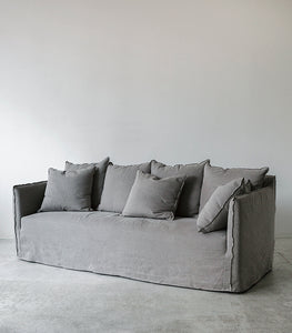 Linen Slipcover Sofa / 2.2M wide / Natural Grey