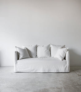 Linen Slipcover Sofa / White / 1.8 M wide – Indie Home Collective