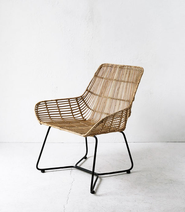 Miami Rattan Lounging Chair / Natural