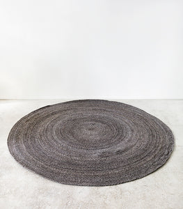 Mornington Round Floor Rug (100% PET) Dark Pebble / 210 cmD