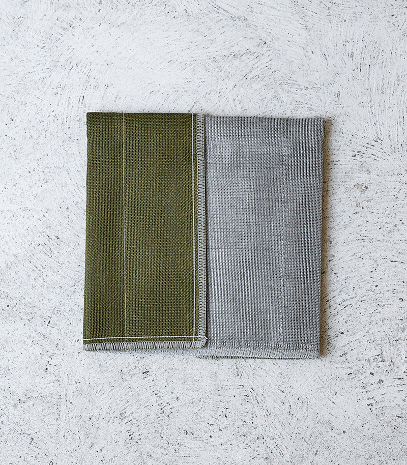'Nawrap' R.I.B. Dishcloth / 35x35cm / Moss Green