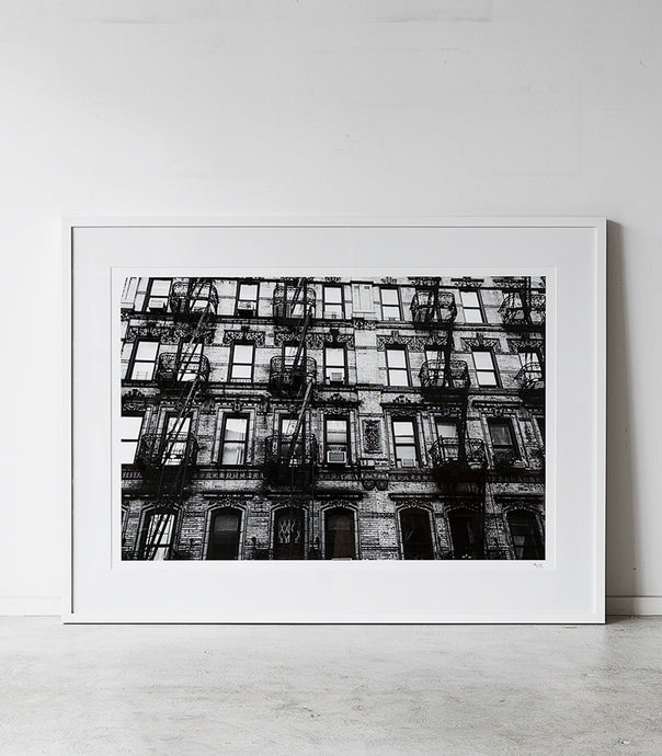 New York Building / Black-White / 115x86cm