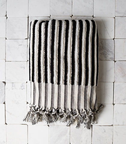 Ottoloom / Black Stripe Organic Bath Towel