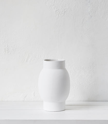 Papaya / Arena Vase / White / Large