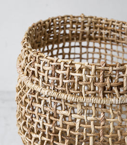 Papaya / Cicely Woven Basket / Medium