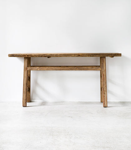 Simple Vintage Butcher Console / Natural / 170x45cm