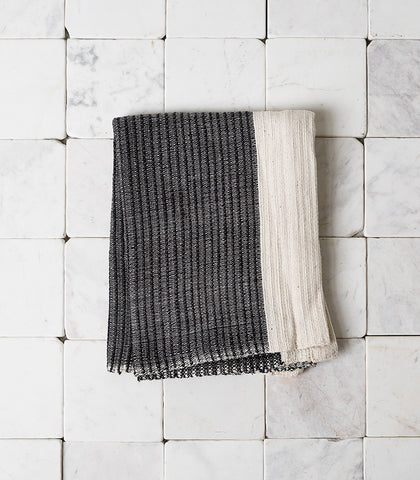 'Once Was Lost' / Thick Hand Towel / Black