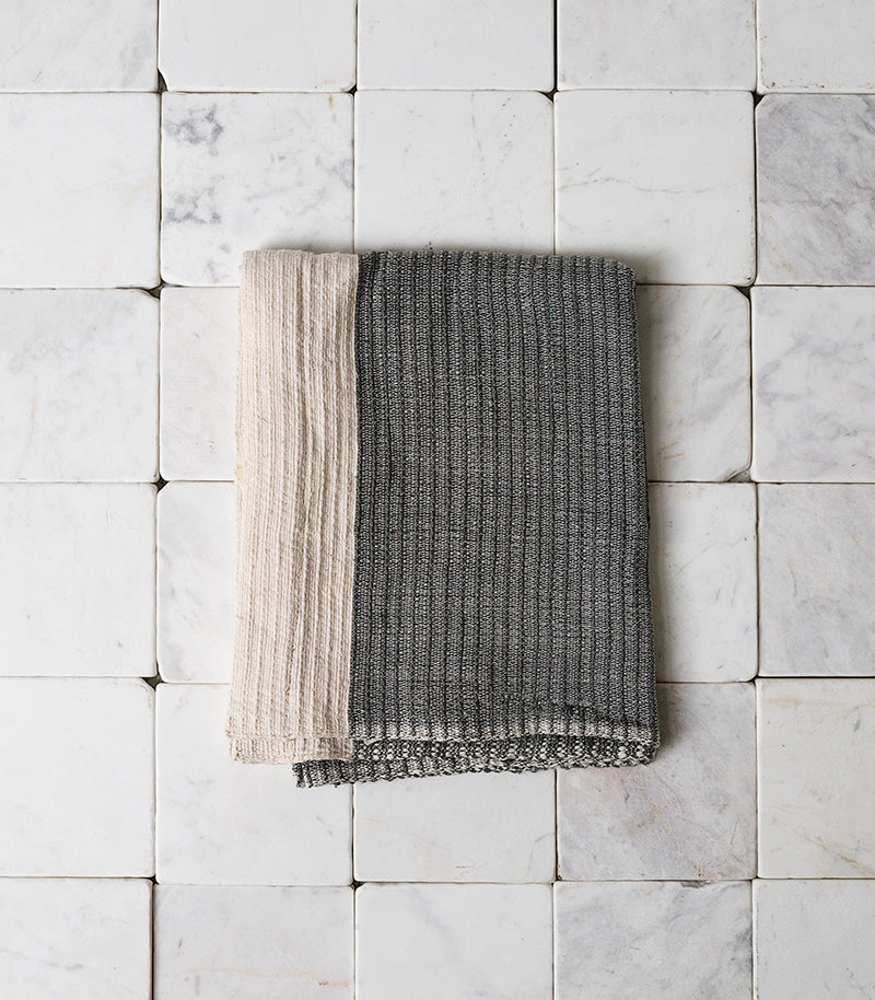 'Once Was Lost' / Thick Hand Towel / Grey