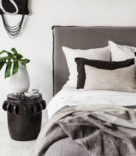 'Bondi' Slipcover Headboard / King / Charcoal