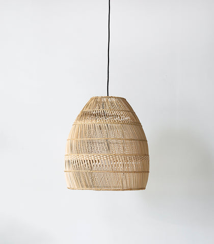 Rattan Hatch Line Lampshade / 55cmH / Natural