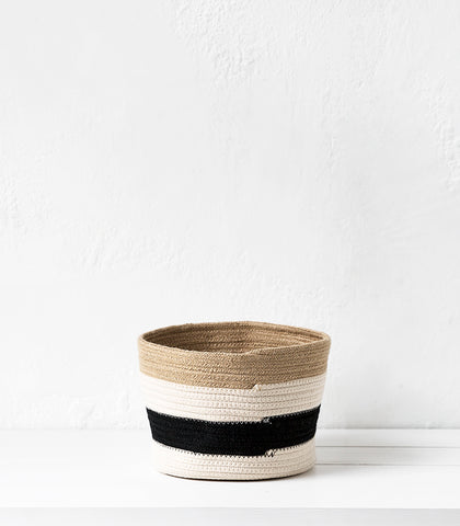 Redondo Jute-Cotton Basket / Medium